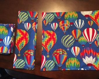 Hot Air Balloon Cloth Napkins