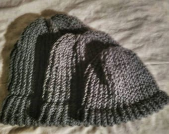 Gray Hat | Handmade Loom Knit | Baby-Adult