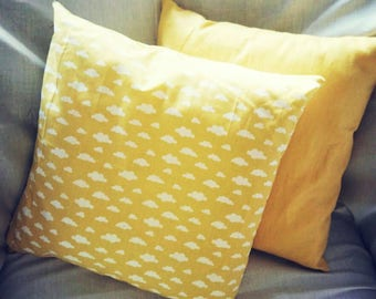 Cloud printed handmade cushion