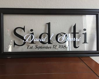 Personalized Family Established Glass Picture Frame