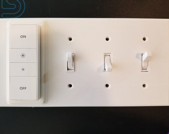 Philips Hue dimmer switch 3 gang reversible magnetic cover/plate