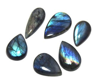 105.60Cts Natural Multi Flash Labradorite Mix Lot  6 Peace  Labradorite Loose Gemstone Amazing & Beautifull Labradorite Nice Flash AB-23