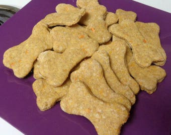 24 Homemade Carrot and Cheese Dog Treats - All Natural - No Preservatives - Dog Biscuits