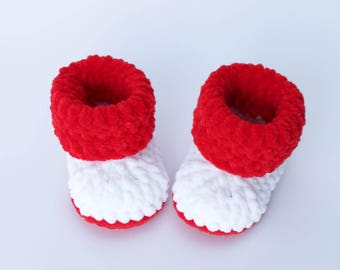 Baby Booties, Crochet baby shoes.