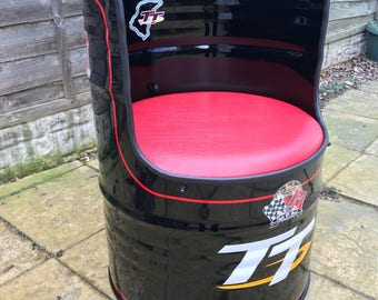 Isle of Man TT oil drum chair