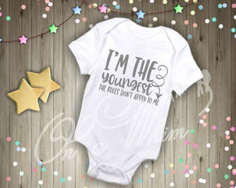 Custom Baby Onesie / Youngest Child /Middle Child / Oldest Child
