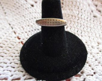 Vintage Lisa Jenks, Modernist Style Tribal ring ,one of her early works size 5.