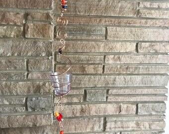 copper hanging votive holder