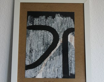 Abstract Painting, Contemporary Artist, Paperwork, Mixed Media