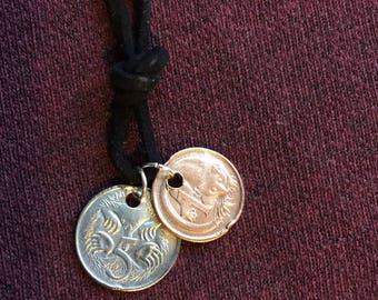 Australian double coin necklace