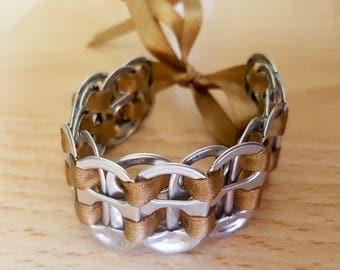 Recycled soda tab bracelet Br/Si