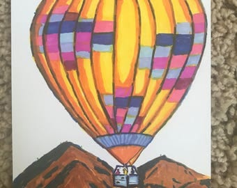 Post card (hot air ballon in Arizona)