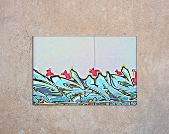 GM 8 - Streets To Canvas - Custom Graffiti Name Sign, Graffiti Art Canvas Print, Personalized Canvas Wall Art, Abstract Graffiti Canvas