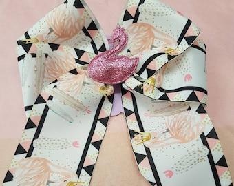 Swan queen hair bow