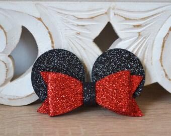 Minnie glitter clip