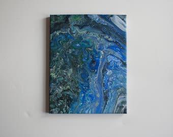 Ocean Paint Pour