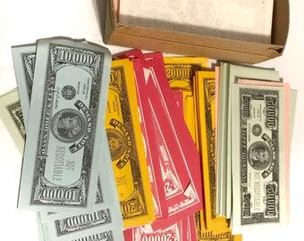 Play Money Scrap Pieces Emphera Vintage Game Money