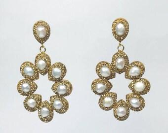 Halo Earrings-Gold