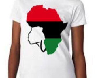African woman shirt