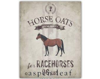CANVAS ** Horse Grain Sack  - 8x10, 11x14, 16x20, 20x30