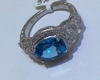 London Blue Topaz & Dia Ring
