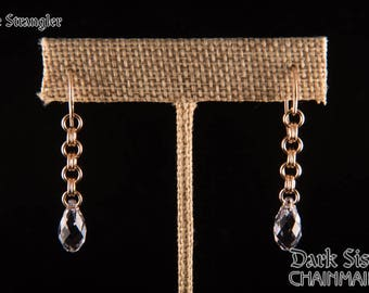 The Strangler Earrings in Bronze