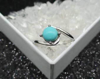 Natural Gemstone Turquoise Ring, 925 Sterling Silver Ring, Wedding Ring For Birthday Gift