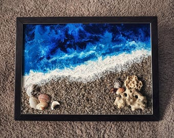 "Acrylic picture ""Seascape"""
