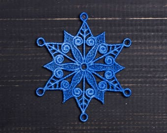 snowflake lace for home decor, christmass decoration,