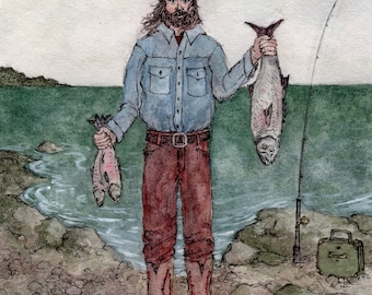 Henry's Catches (Art Print)