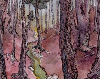 Forest Sunset 1 (Art Print)