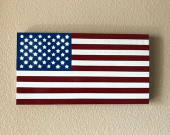 Wooden Painted USA flag