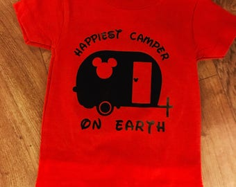 Mickey happy camper
