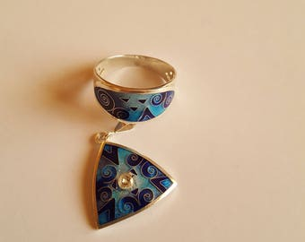 Set from a ring and a pendant