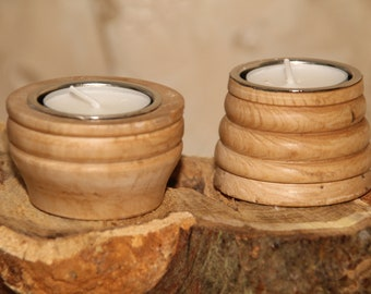 Pair of Sycamore Tea lilght holders