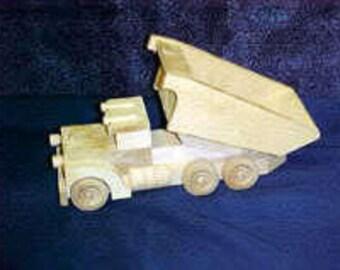 Custom Wood Toy Dump Truck