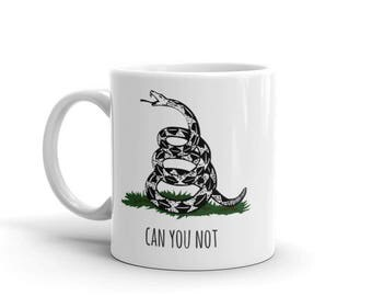 """Gadsden Flag """"Don't Touch Me"""" Mug made in the USA"""