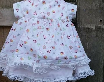 18 month Short sleeve dress with matching ruffled diaper cover.
