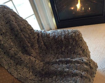 Gray Verigated Afghan