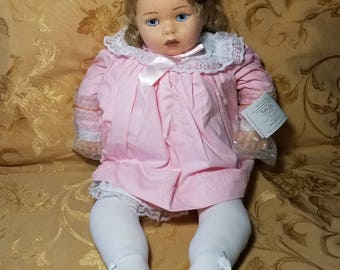 "Carla Thompson Rare felt doll ""Katie Lee"""