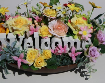 Spring floral arrangement,all season floral arrangement,Housewarming gift,home decor,Entryway home decor