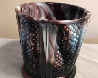 Purple slag glass Bowl/ Candy Dish Challinor Taylor