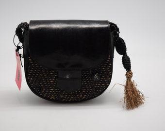 Black rafia bag