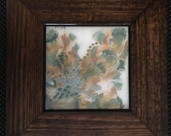 Original Abstract Acrylic & Resin Painting