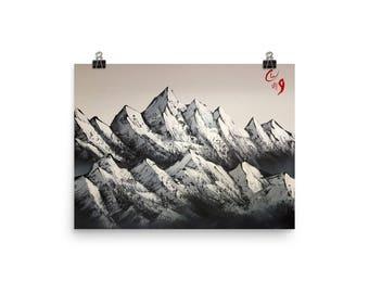 Two mountain ranges