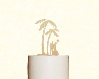 Palm Tree Cake Topper