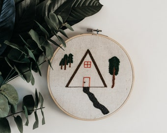 Cabin embroidery