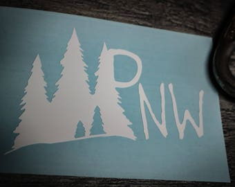 "Pacific Northwest Vinyl Decal - "" PNW In the Forest"""