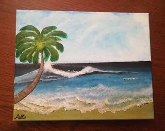 "Painting ""Waves"", acrylic on canvas     ""Waves"" acrylics on canvas. 24 x 30 cm"