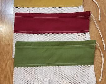 Mesh Produce Draw String Bags